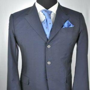 PRADA Navy Wool/Silk 3Btn Suit